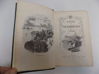 """Lot 1286 - J. T. BLIGHT. """"A Week at the Land's End."""" 1st..."""