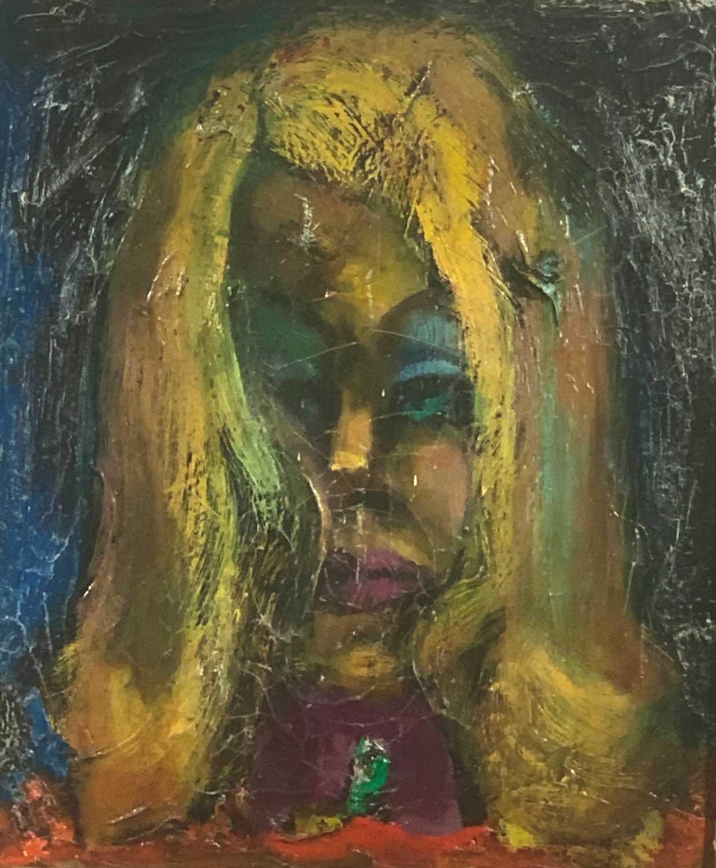 Lot 21-Sven BERLIN (1911 - 1999) Julia Oil on canvas...