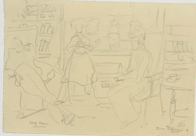 Lot 22 - Sven BERLIN (1911 - 1999) Staff Room Drawing...