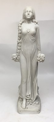 Lot 11-A contemporary composite sculpture of a maiden,...