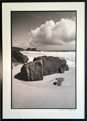 Lot 24 - Charles ROFF Porthcurno After Storm Framed...