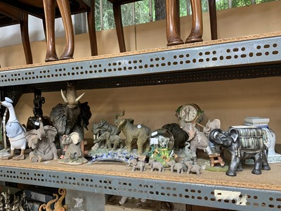 Lot 2-A large quantity of animal figurines, mostly...