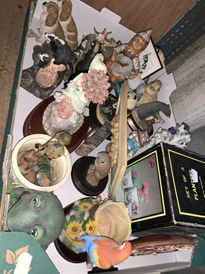 Lot 7-A box of collectible ceramic figurines, etc.