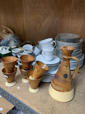 Lot 21-An unusual Fosters Cornish mead set, together...