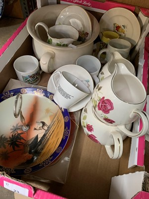 Lot 23-A box of ceramics including Lord Nelson pottery...
