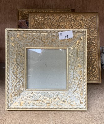 Lot 15-Two Italian carved wood photograph frames and...