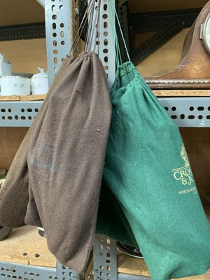 Lot 18-A pair of shoes in two Crockett & Jones shoe bags ...