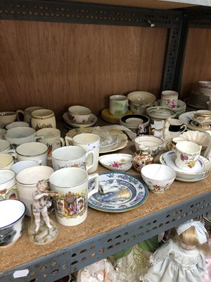 Lot 18-A collection of commemorative china including...