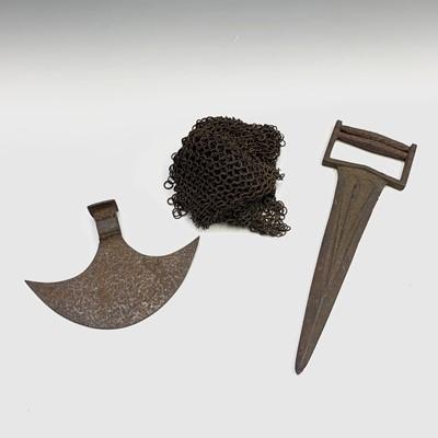 Lot 7-An Indian iron katar push dagger, with...