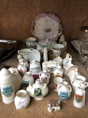 Lot 12-Goss and other crested souvenirs including...