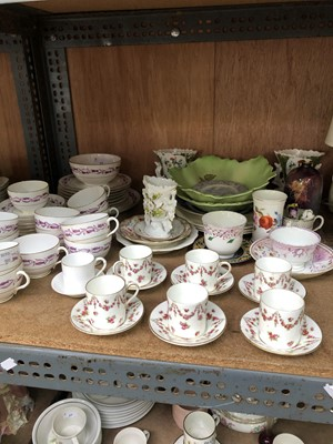 Lot 17-Royal Worcester dated 1911 part tea service...