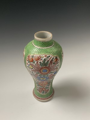Lot 8-A Chinese famille verte baluster vase, 19th...