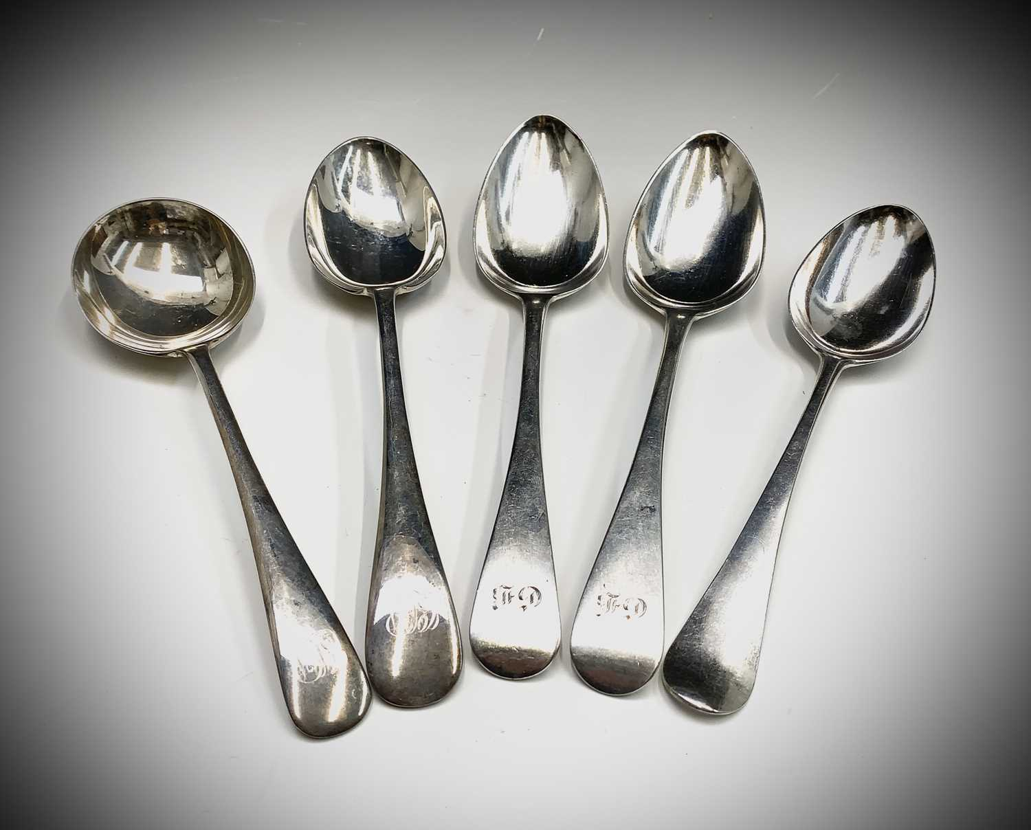 Lot 4-A pair of silver Old English pattern...