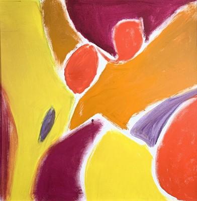 Lot 24-Rose HILTON (1931-2019) 'Painting' Oil on...