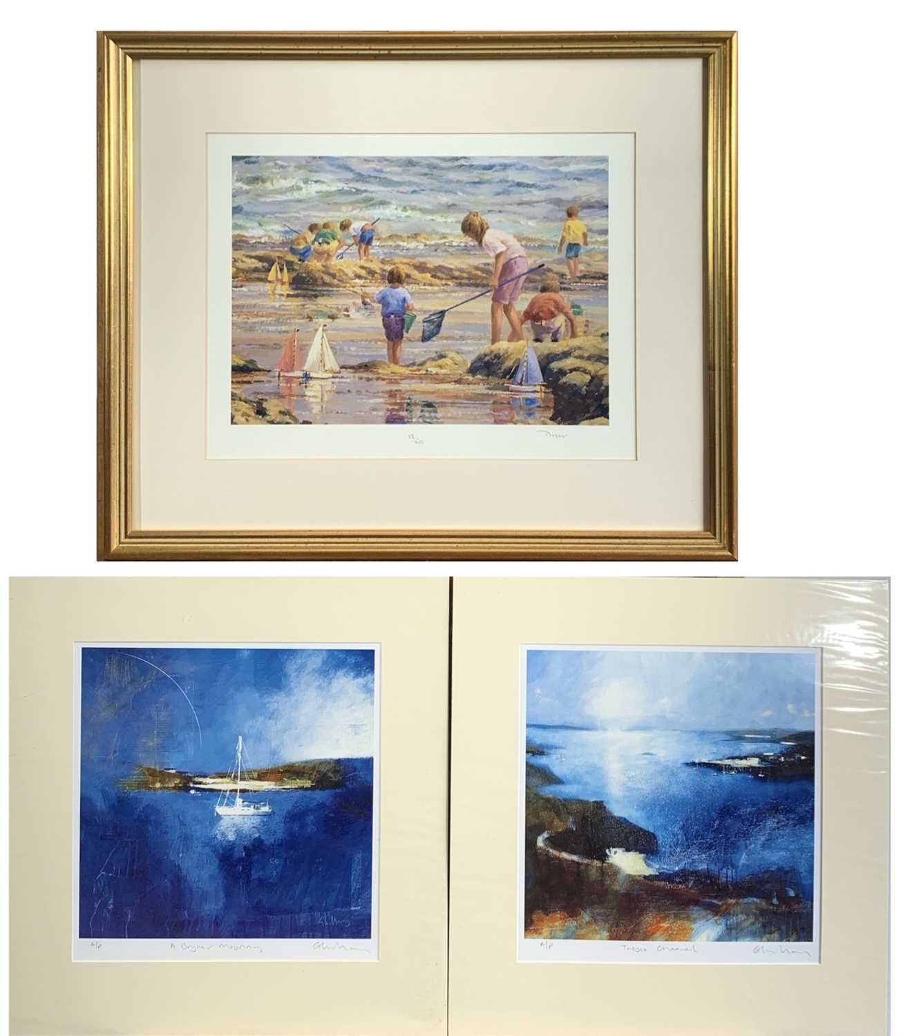Lot 14-Ted DYER (1940) On the Beach Signed limited...