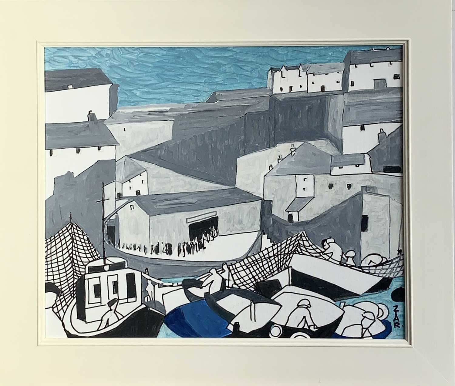 Lot 9-Rosemary ZIAR (1919-2003) The Last Fishermen,...