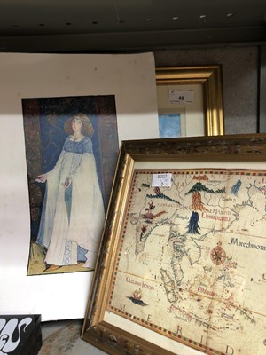 Lot 49 - 'The Lady Lioness', colour lithograph after...