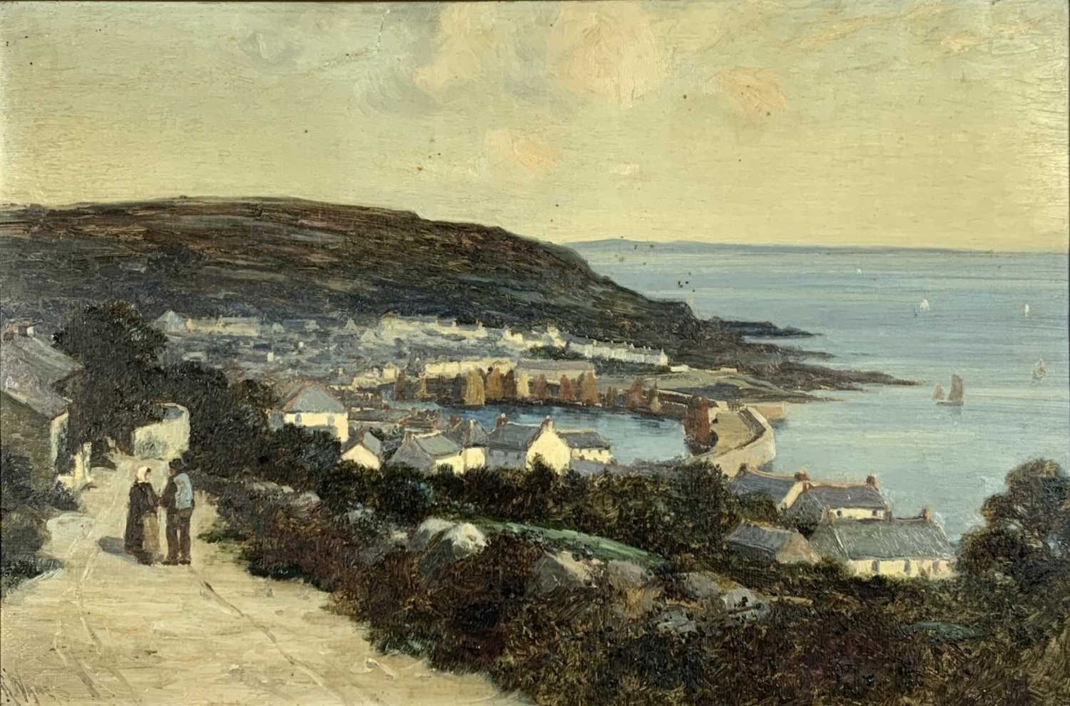 Lot 11-Richard WANE (1852 - 1904) A view of Mousehole...