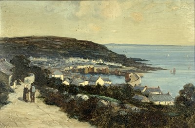Lot 11 - Richard WANE (1852 - 1904) A view of Mousehole...