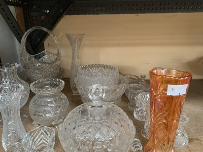 Lot 1-Cut glass and other glassware including...