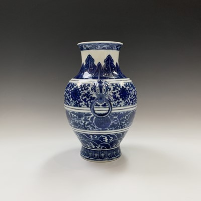 Lot 32-A Chinese blue and white porcelain archaistic...