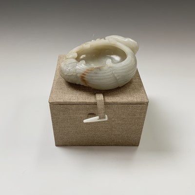 Lot 22-A Chinese carved jade brush pot, 18th century,...