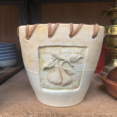 Lot 15-A lamp base, studio Headcorn pottery, etc.