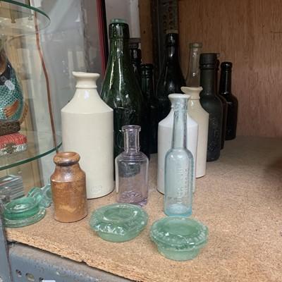 Lot 22-J Bourne Denby Potteries stoneware bottle,...
