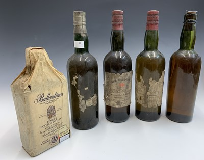 Lot 23-A vintage bottle of Ballantine's finest Scotch...