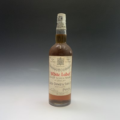 Lot 24-A bottle of John Dewar & Sons White Label...