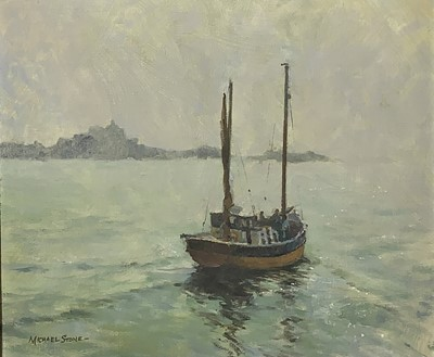 Lot 50 - Michael STONE Off St. Clements Oil on Canvas...