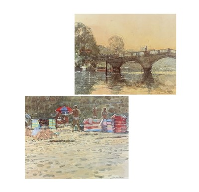 Lot 126 - Ken HOWARD (1932) Richmond Bridge, print, 33 x...