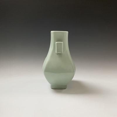 Lot 10-A Chinese celadon hu-form vase, Guangxu Period,...