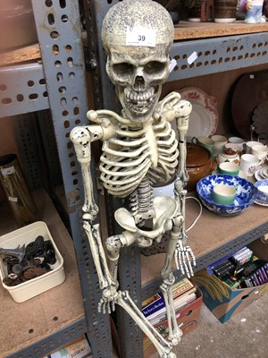 Lot 39 - A plastic skeleton.