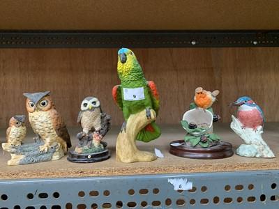 Lot 9-A J Mack kingfisher figurine, together with...