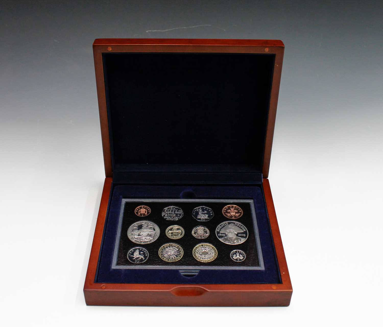 Lot 10-GB 2005 Executive proof collection in wooden...