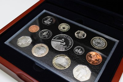 Lot 13-GB 2006 Executive proof collection in wooden...