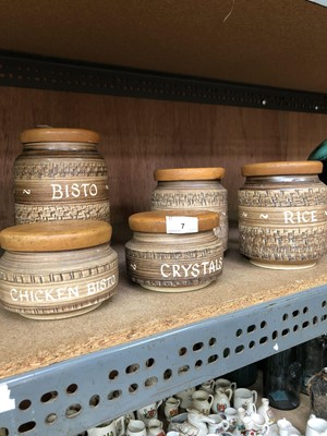 Lot 7-Five vintage Chillington Bristow storage...