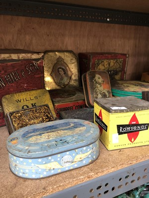 Lot 13-Vintage collectable tins including Concorde,...