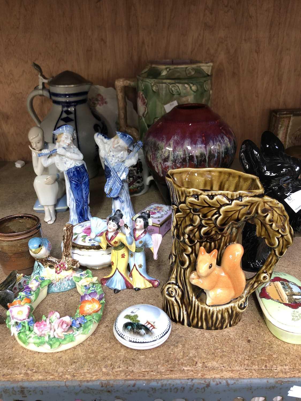 Lot 20 - A Sylvac jug, together with other ceramics,...