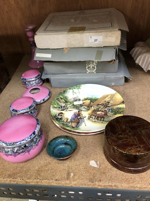 Lot 27-Boxed Royal Doulton and Wedgwood plates and...