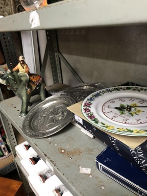Lot 50 - A Royal Worcester 'Herb' clock, other plates...