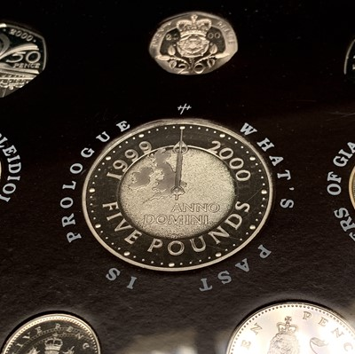 Lot 18-UK proof coin sets. 2000 Delux Proof coin...