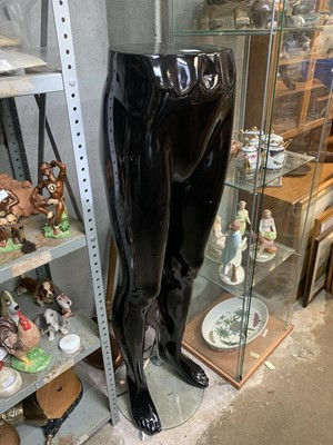 Lot 59 - Male mannequin legs and stand.