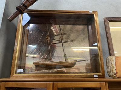 "Lot 65 - Half hull model of the ""Achilles New York"" in..."