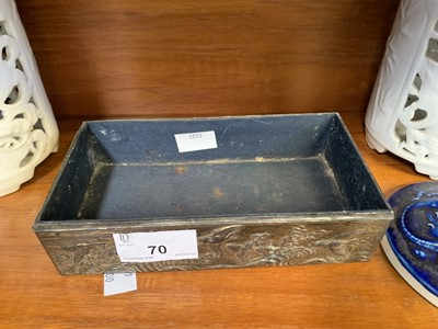 Lot 70 - Japanese metal box decorated with...