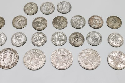Lot 19-Pre 1947 silver coinage 246 grms.
