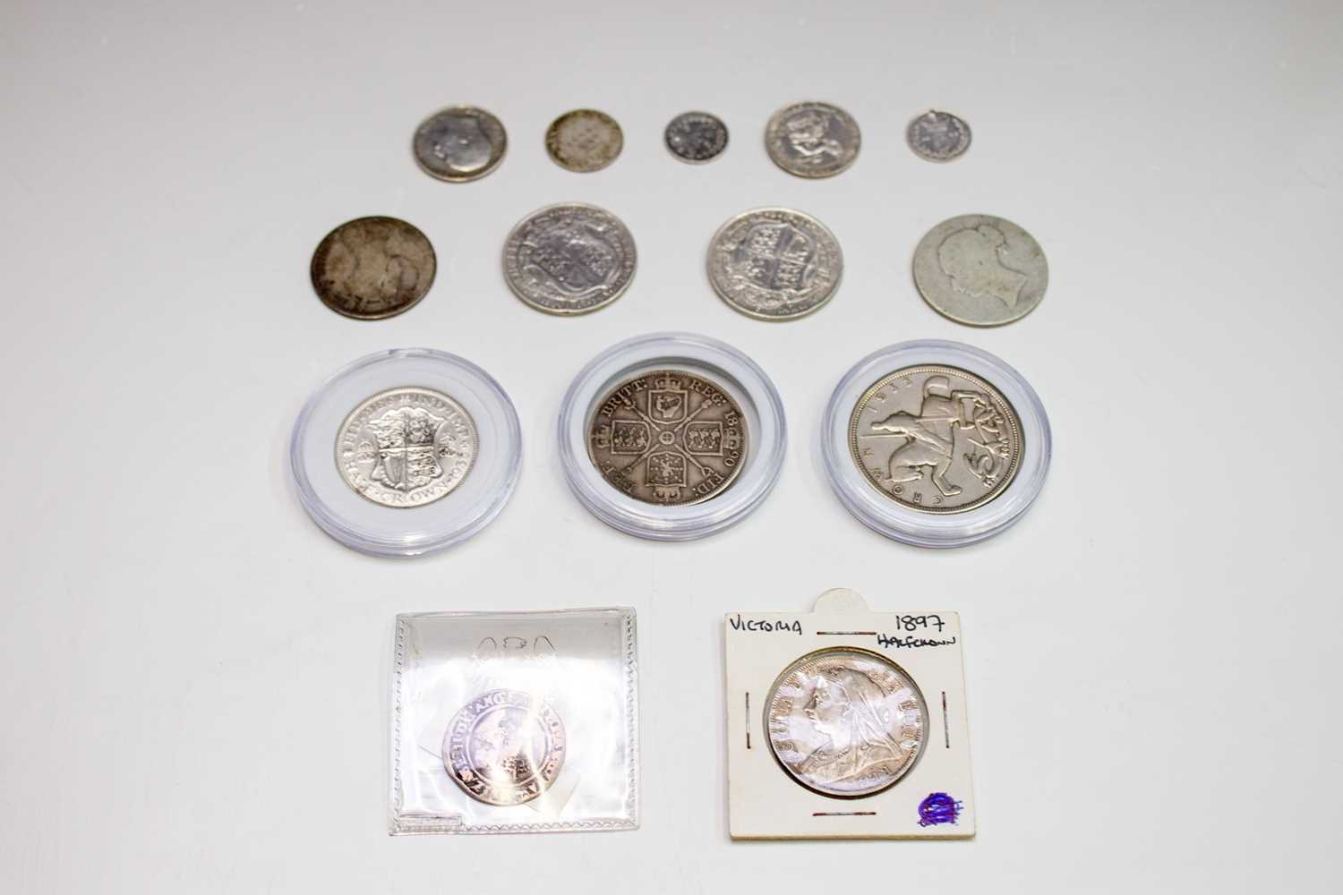 Lot 20 - GB silver coins - 1569 hammered 6d poor, 1897...