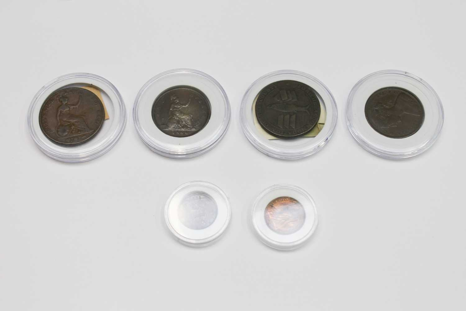 Lot 23-GB copper and bronze coinage including 1861...