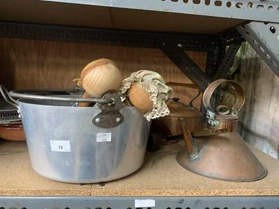 Lot 10 - Copperware, other kitchenalia and studio...